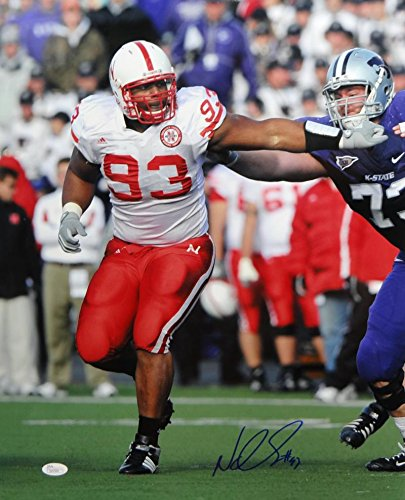 pretty nice 98f41 e9572 Ndamukong Suh Autographed Nebraska 16x20 Stiff Arm Photo ...