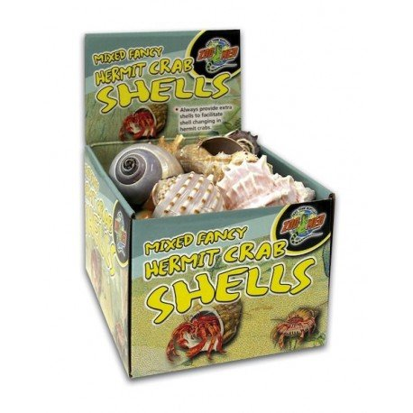 (Zoo Med Mixed Fancy Hermit Crab Shells, 24 Piece Case)