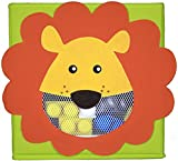Cute Collapsible Storage Bins w/ View Window- Foldable cubes - 11x11 in. Folding Box (LION)