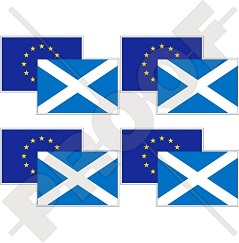 EUROPEAN UNION-SCOTLAND Flag Pair, EU-SCO Europe-Scottish 2