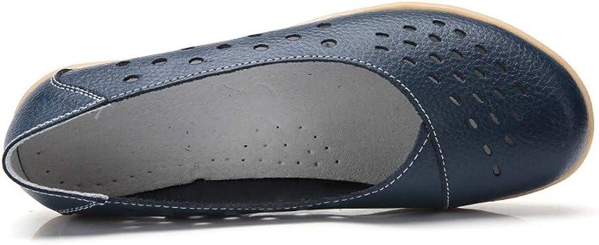 AG&T Zapatos de Mujer de Gran tamaño Zapatos cómodos Huecos ...