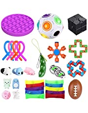 bopel 30 Pcs Sensory Fidget Toys Set, Stress Relief and Anti-Anxiety Tools Bundle Toys Assortment,Stocking Stuffers for Kids Adults,Party Favors Carnival Prize Classroom Rewards Bag Fillers