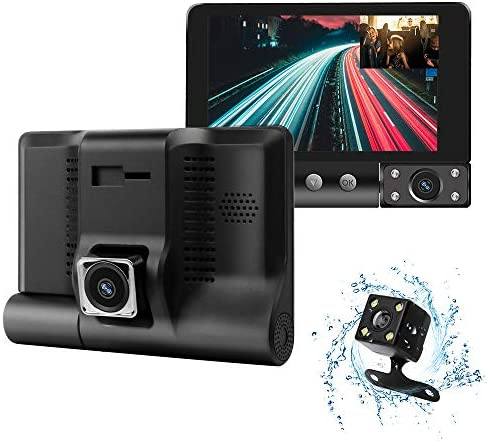Dash Camera for Cars 1080P FHD Car Camera,Dash Cam Front and Rear170 120 Wide Angle Lens,Waterproof Backup Camera,G-Sensor, Loop Recording, Motion Detection,WDR Parking Monitor