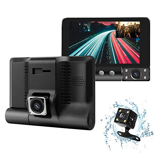 Dash Camera for Cars 1080P FHD Car Camera,Dash Cam Front and Rear170° &120° Wide Angle Lens,Waterproof Backup Camera,G-Sensor, Loop Recording, Motion Detection,WDR,Parking Monitor