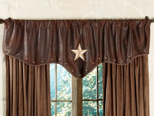BLACK FOREST DECOR Starlight Trails Chocolate Star Valance