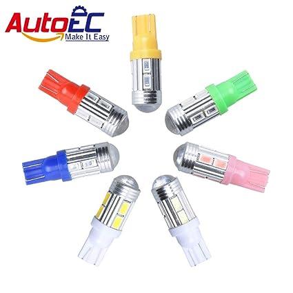 HANO AutoEC 2 x Lámparas de vehículos W5W 10 SMD5630 con la ...