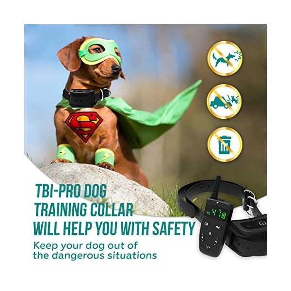 [Upgraded 2020] Dog Training Collar with Remote - Shock Collar for Dogs Range 1600 feet, Vibration Control, Rechargeable Bark E-Collar - IPX7 Waterproof for Small, Medium, Large Dogs, All Breeds 7