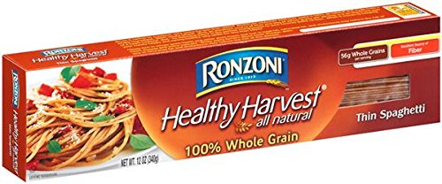 Ronzoni Healthy Harvest 100% Whole Grain Spaghetti 16 oz. (Pack of 3) by Ronzoni