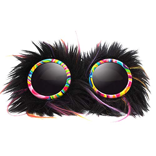 GloFX Party Animal Furry Goggles - Tinted - Festival Rave EDM Cosplay Costume Goggles ()