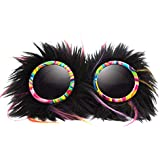 GloFX Party Animal Furry Goggles - Tinted - Festival Rave EDM Cosplay Costume Goggles
