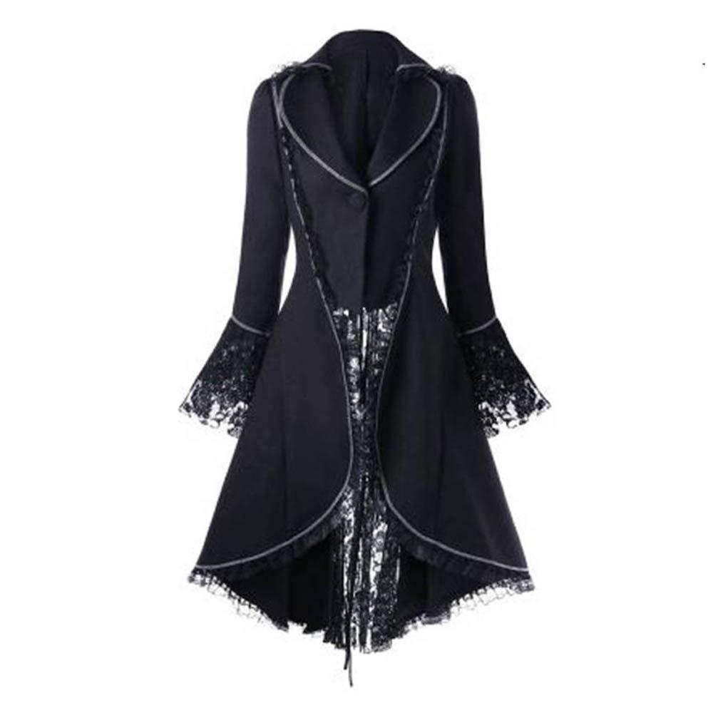 COPPEN Clearance Women OverCoat Vintage Long-sleeved waist Back Bandage Lace Christmas Jacket COOPEN