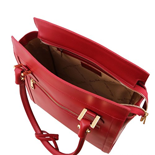 en cuir frontal Lara avec à main zip Rouge Rouge Ruga Leather Tuscany Sac TL141644 XUAwqna4