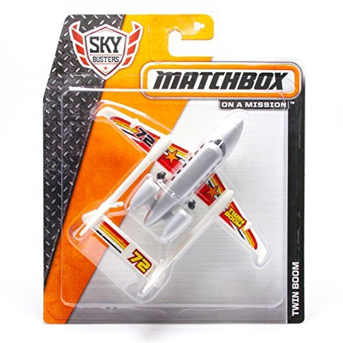 TWIN BOOM #72 * MBX ON A MISSION * 2014 MATCHBOX Sky Busters Series Airplane Matchbox Sky Busters