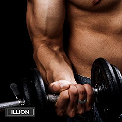 Illion Silicone Wedding Ring Protects You and Your Band From Damage in 4 Sizes - 9