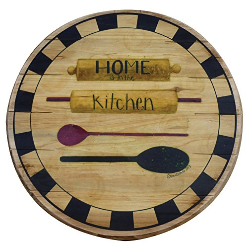 Boston Warehouse Hand Crafted Wood Lazy Susan and Turntab...