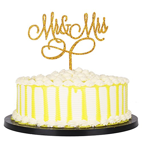 PALASASA Gold Gliter lettersMr and Mrs Wedding Cake Toppers,Party decor (Halloween Decorations Etsy)