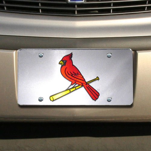 St. Louis Cardinals Silver Mirrored License - Outlet Louis St