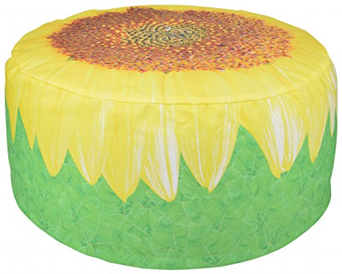 Esschert Design Outdoor Pouffe Sunflower (Storage Stool Sunflower)