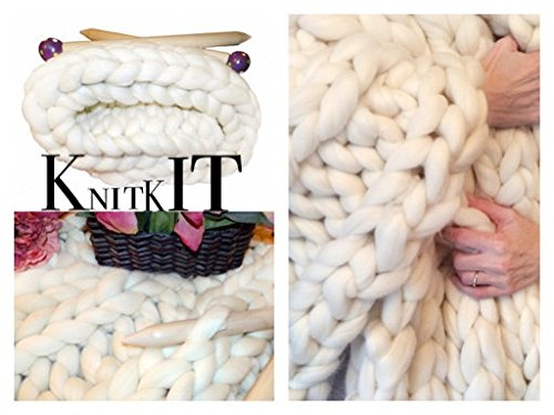 KNIT KIT, Super Chunky Merino, Needles, Patterns (Natural)