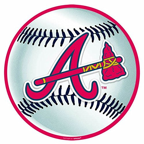 Amscan Baseball Dream Atlanta Braves Cutouts Wall Decoration, White/Red, 12 x 11.1
