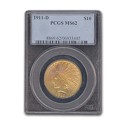 1911 D $10 Indian Gold Eagle MS-62 PCGS G$10 MS-62 PCGS