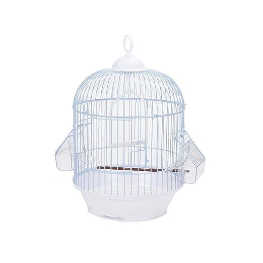 Pequeñas jaulas de pájaros Redondas para pájaros Casa de Mascotas ...