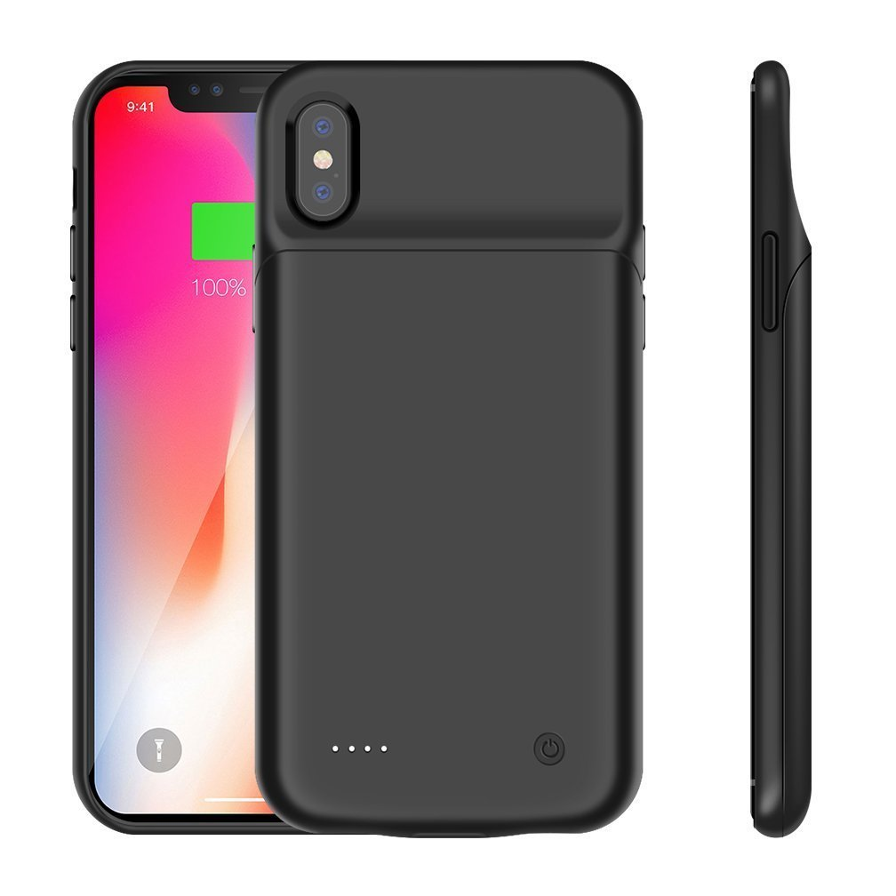 Amazon.com: iPhone X externo de Case, deriruler Cargador ...