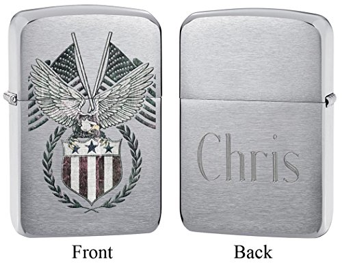 Personalized American Eagle Zippo Lighter with Free Engraving