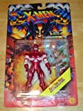 ERIC THE RED * Super Metallic Armor * 1995 Marvel Comics X-Men Invasion Series Action Figure & Marvel Universe Trading Card