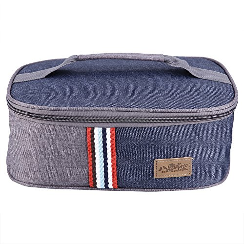 Thermal Lunch Box Handheld Lunch Bag Travel School Picnic Food Storage Case Container for Work School Picnic (Handheld Lunch Box)