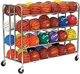 Champion Sports Double Ball Rack, 48 Ball Capacity (Chrome)