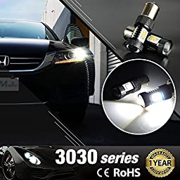 JDM ASTAR Extremely Bright 3030 Chipsets 1156 1141 1073 7506 LED Bulbs with Projector, Xenon White (ONLY used for backup reverse lights)