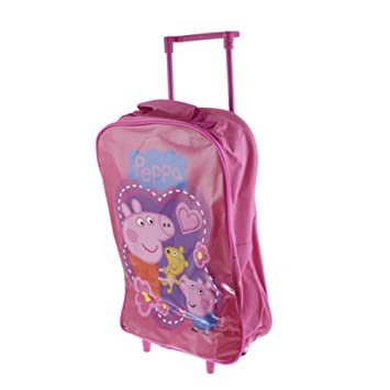 29c6f7514be3 Ardisle PEPPA PIG KIDS PULL ALONG SUITCASE CHILDS TROLLEY BAG CABIN ...