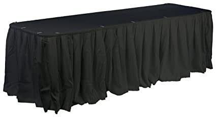Displays2go Set Of Black Linens For Banquet Tables, 72 X 30 Inch, Includes