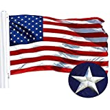 G128 – American Flag   3x5 feet   Embroidered 210D – Embroidered Stars, Sewn Stripes, Brass Grommets, Indoor/Outdoor, Vibrant Colors, Quality Polyester, US USA Flag