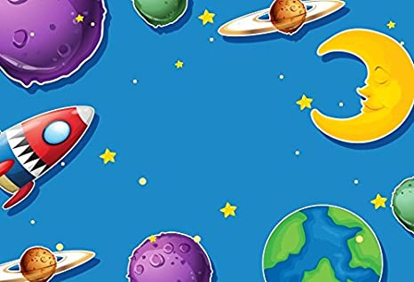 15x10ft Customized Background Galaxy Stars Planet Photography Backdrop for Children Photo Shooting Props LHFU501
