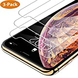 iPhone Xs Max Screen Protector 3 Packs Ultra Thin Clear Anti-Scratch Anti-Fingerprint Anti-Bubbles 9H Hardness Case Friendly Tempered Glass Screen Protector Full Coverage Film for iPhone Xs Max