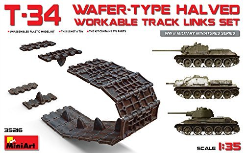 T-34 WAFER-TYPE HALVED WORKABLE TRACK LINKS SET 1/35 MINIART 35216