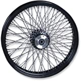 Paughco 06-122R Black Twisted 80 Spoke 16x3 Rear Wheel , Position: Rear, Rim Size: 16, Color: Black