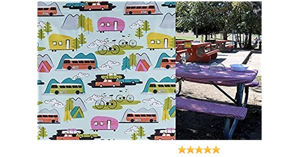 Amazon Com Custom Stay Put Fitted Tablecloth Table Cover For A 6 Ft