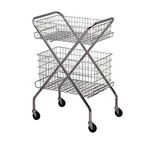 McKesson 81-63021 Entrust Multi-Purpose Steel Cart, Wire Basket, 14.5'' Height, 24.5'' Width, 12'' Length, Silver