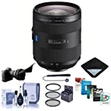 Sony 24-70mm f/2.8 Vario-Sonnar T Zeiss ZA SSM II, Alpha A DSLR Mount Lens - Bundle with 77mm Filter Kit, Flex Lens Shade, Cleaning Kit, Lens Wrap (15x19), Capleash, Software Package