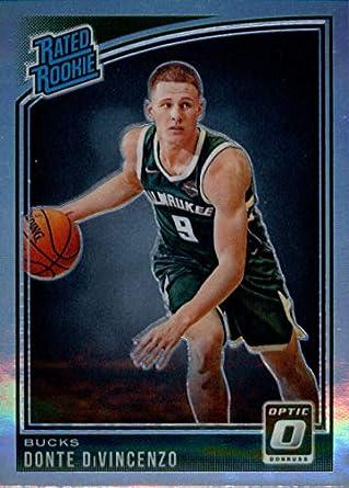 1589f710d52 2018-19 Donruss Optic Holo  164 Donte DiVincenzo Milwaukee Bucks Basketball  Card