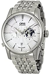 Oris Artelier GMT Automatic Silver White Dial Stainless Steel Mens Watch 690-7690-4081MB