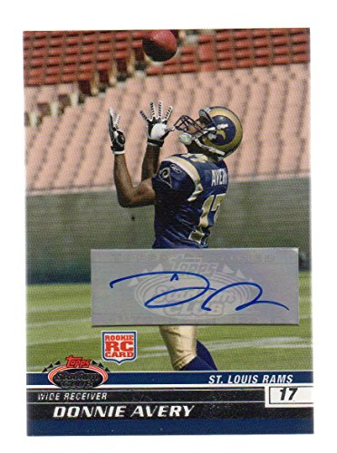 St Louis Rams Memorabilia (2008 Stadium Club Rookie Autograph #153 Donnie Avery St. Louis Rams)