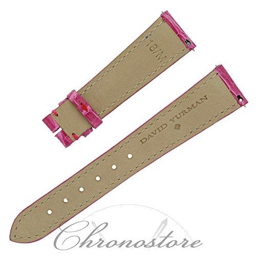 David Yurman 18M 18 - 14 mm Hot Pink Alligator Leather Women's Watch Strap Band