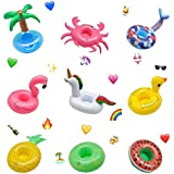 Miracliy Inflatable Pool Drink Holders for Pool Party Water Fun Pack of 9