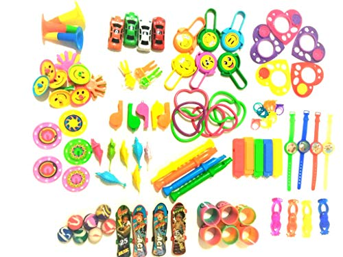 Carnival Prizes for Kids 120 PCS, Party Favor for Boys & Girls, Pinata Filler, Stocking Stuffer and Bag Filler. Excellent for Classroom Prizes, Fun Bag Toys Assortment Tpooii.