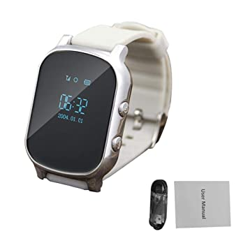 ce5dbb0b035 Image Unavailable. Image not available for. Color  Puremood Positioning  Smart Watch 2G Card Slot Watch Elderly Children s Phone ...