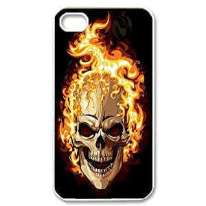 Skull CHA2042265 Phone Back Case Customized Art Print Design Hard Shell Protection Iphone 4,4S